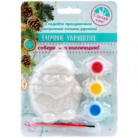 """Новогодний набор для творчества """"Новогоднее подвесное украшение Пузатый Снеговик"""" 80872"""