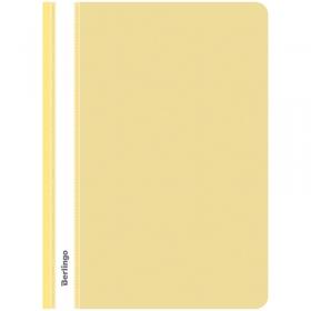 Папка-скоросшиватель пластик. Berlingo, А4, 180мкм, желтая с прозр. верхом ASp_04105
