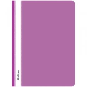 Папка-скоросшиватель пластик. Berlingo, А4, 180мкм, фиолетовая с прозр. верхом ASp_04107