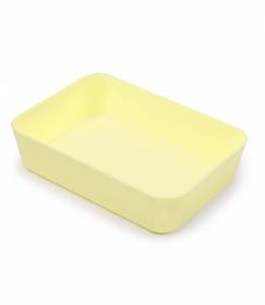 Лоток хозяйственный малый жёлтый Pastel ЛТ445