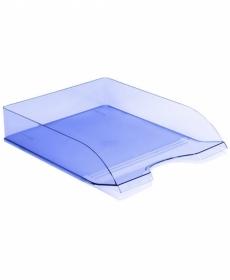 Лоток горизонтальный ДЕЛЬТА тонированный голубой ЛТ654
