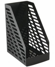Лоток для бумаг вертикальный STAMM XXL чёрный ОФ333
