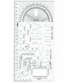 Линейка  офицерская №2 (курсантская) б/цв., печатная шкала ТТ04
