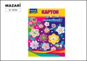 Набор цветного картона мелованного А4 10 л., 10 цв. M-16186