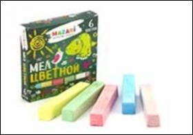 Мел цветной, 6цв., карт.коробка M-9004
