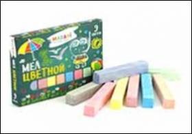 Мел цветной, 9цв., карт.коробка M-9005
