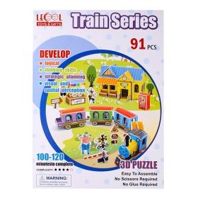 """Пазл 3D """"Train"""" LK-8863. Игрушка DV-T-2493-A"""