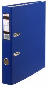 Папка регистратор А4, ПВХ, 50 мм. синяя с уголком Tiralana Flax Vinil, RMP50-419BL