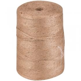 Шпагат джутовый, полированный, 1200текс, 2 нити, 830м, 1кг, бобина 8417-1