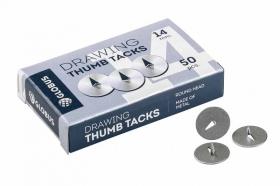 Кнопки канцелярские 14 мм, 50шт. К14-50