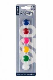 Набор магнитов 20 мм, 6 шт. цветные МЦ20