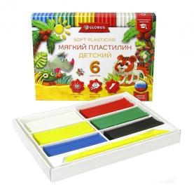 Пластилин детский классический  повышенной мягкости 6 цветов ПЛ6Д