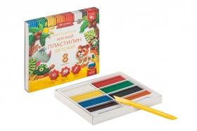 Пластилин детский классический  повышенной мягкости 8 цветов ПЛ8Д