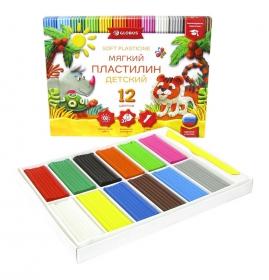 Пластилин детский классический  повышенной мягкости  12 цветов ПЛ12Д