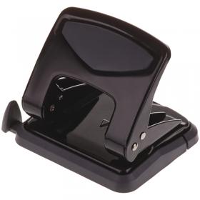 Дырокол OfficeSpace 35л., металлический, черный, с линейкой 266967