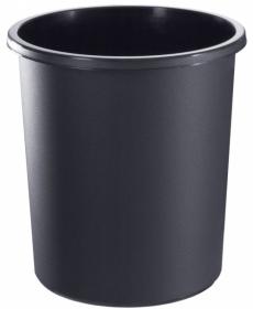 Корзина 18л цельная чёрная КР41