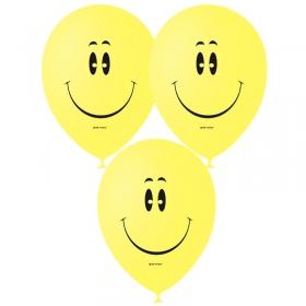 """Воздушные шары,  50шт., М12/30см, Поиск """"Смайл YELLOW"""", пастель, шелк 4690296041168"""