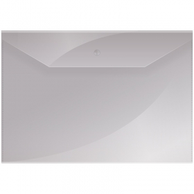 Папка-конверт на кнопке OfficeSpace  А4, 150мкм, прозрачная Fmk12-1 / 220893