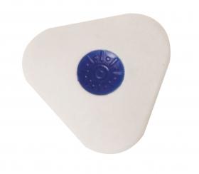Ластик из синтетического каучука, ПЛАСТИЛИНОВАЯ КОЛЛЕКЦИЯ, цв. белый, с центровкой 181119
