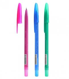 """Ручка шариковая масляная """"Конфетти"""" синий стержень 0,7мм СТАММ РС20"""