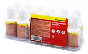 Жидкость коррект. Silwerhof 443030 на водной основе кисточка белый 20мл