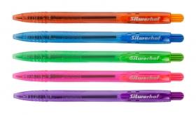 Ручка шариковая Silwerhof TROPIC (026177-02) авт. однораз. 0.7мм ассорти синие чернила