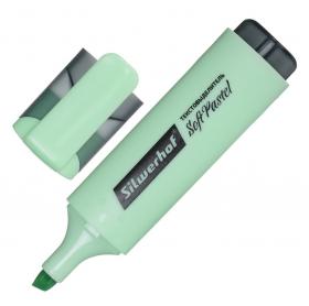 Текстовыделитель Silwerhof Soft Pastel 108133-22 скошенный пиш. наконечник 1-5мм мятный коробка