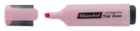 Текстовыделитель Silwerhof Soft Pastel 108133-26 скошенный пиш. наконечник 1-5мм розовый пастельный