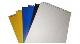 Блокнот на гребне А5 (60 л) пластиковая обложка (спираль сверху) Арт.6С24