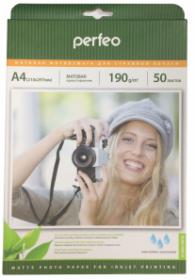Фотобумага А4 PERFEO (210х297) матовая (PF-MTA4-190/50) (M06) 50л, 190г/м2