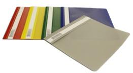 Папка-скоросшиватель Бюрократ Люкс -PSL20A5BLUE A5 прозрач.верх.лист пластик синий 0.14/0.18