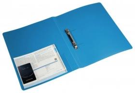Папка на 2-х кольцах Бюрократ -0827/2RBLU A4 пластик 0.7мм кор.27мм внутр. с вставкой синий