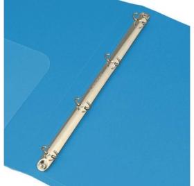 Папка на 4-х кольцах Бюрократ -0818/4RBLU A4 пластик 0.7мм кор.18мм внутр. с вставкой синий