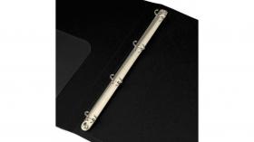 Папка на 4-х кольцах Бюрократ -0827/4RBLCK A4 пластик 0.7мм кор.27мм внутр. с вставкой черный