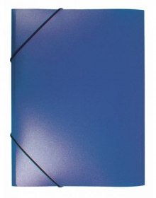 Папка на резинке Бюрократ -PR05BLU A4 пластик кор.30мм 0.5мм синий