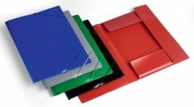 Папка на резинке Бюрократ -PR05GREY A4 пластик кор.30мм 0.5мм серый