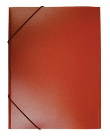 Папка на резинке Бюрократ -PR05RED A4 пластик кор.30мм 0.5мм красный