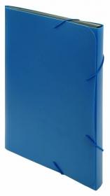 Портфель Бюрократ -BPR6BLUE 6 отдел. A4 пластик 0.7мм синий