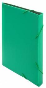 Портфель Бюрократ -BPR6GRN 6 отдел. A4 пластик 0.7мм зеленый