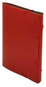 Портфель Бюрократ -BPR13RED 13 отдел. A4 пластик 0.7мм красный