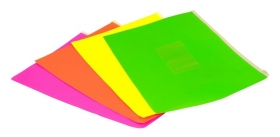 Папка на молнии ZIP Бюрократ Double Neon DNEBPM4AOR A4+ полипропилен 0.15мм оранжевый карм.для визит