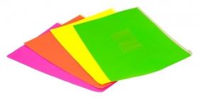 Папка на молнии ZIP Бюрократ Double Neon DNEBPM5APINK A5 полипропилен 0.15мм розовый карм.для визит.