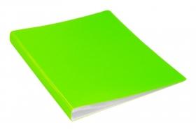 Папка с 30 прозр.вклад. Бюрократ Double Neon DNE07V30YEL A4 пластик 0.7мм желтый