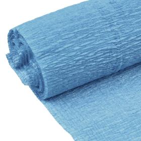 Бумага гофрированная поделочная 50см*250см синяя пастель DV-12563-26