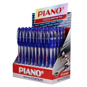 """Ручка шар. синяя на масляной основе """"Piano"""" корпус тонир.с рез. держателем игольчатый стерж PT-197"""